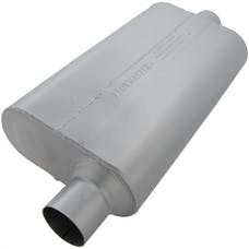 Flowmaster 942551 50 Delta Flow Muffler-2.50 Offset In/2.50 Center Out-Moderate Sound