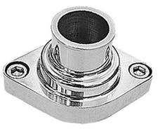 Trans Dapt Performance 6002 STRAIGHT-UP Style Water Neck; O-Ring SealSB and BB Chevy V8- Polished ALUMINUM
