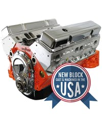 Small Block Chevy 400 460HP Long Block Crate Engine BP4001CT1