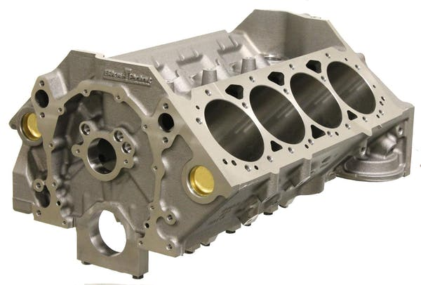 BluePrint Engines BPSB4000200W Small Block Chevy Cast Iron Bare Block 4.00 Wet Bore 2 piece RMS