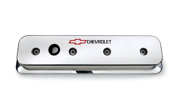 Chevrolet Performance 12497985 Chrome-Finish Aluminum Valve Covers