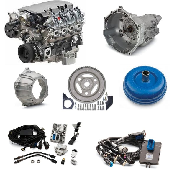 Chevrolet Performance CPSLT15354L75EW LT1 535HP with 4L75E Transmission Package