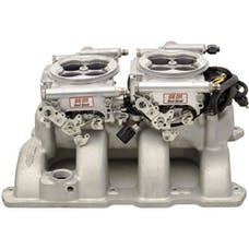 FiTech 30061 Bright Finish Dual Quad 625HP Carb Swap EFI System