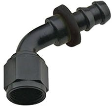Fragola 206006-BL Series 8000 Push-Lite Hose End 60 Degree #6 Hose to #6 Nut Black