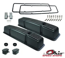 Ohio Speed Shops OSS-6181B SBC Tall Black Finned Valve Cover Package