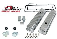 Ohio Speed Shops OSS-6181P SBC Tall Polished Finned Valve Cover Package