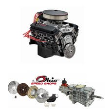 Ohio Speed Shops OSSSP350TK6 SBC SP350 357HP with TKO-600 Transmission Package