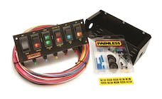 Painless 50302 6-Switch Fused Panel w/all necessary wiring/hardware