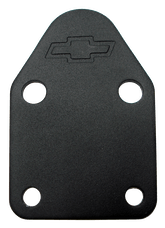 Proform 141-212 Fuel Pump Block-Off Plate; Black Crinkle with Bowtie; Fits SB Chevy V8 Engines