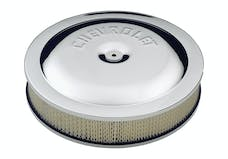 Proform 141-307 Air Cleaner Kit; Chrome; Embossed Chevy Logo; 14 In. Diameter; With Center Nut