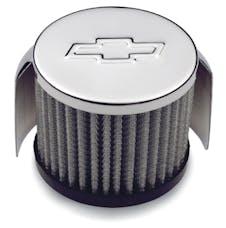 Proform 141-625 Engine Valve Cover Breather Cap; Clamp-On Style; Bowtie Logo; 3 Inch Diameter