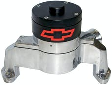 Proform 141-654 Electric Engine Water Pump; Aluminum; Polished with Bowtie Logo; Fits SB Chevy