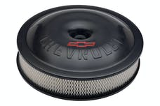 Proform 141-692 Engine Air Cleaner Kit; Super-Light; 14 Inch; Aluminum; Black; Bowtie/Chevy Logo