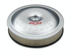 Proform 141-693 Engine Air Cleaner Kit; Super-Light; 14 Inch; Aluminum; Clear; Bowtie/Chevy Logo