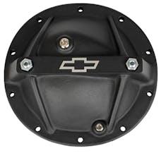 Proform 141-696 Differential Cover; Bowtie Emblem Model; GM 10 Bolt 8.2/8.5; Alum; Black Crinkle
