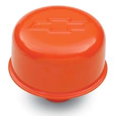 Proform 141-786 Engine Valve Cover Breather; 3 In Dia; Bowtie Logo; Push-In Style; Orange