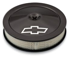 Proform 141-790 Engine Air Cleaner Kit; 14 Inch Dia; Carbon Fiber; Chevy Lettering w/Bowtie Logo