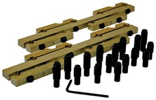 Proform 66981 Engine Rocker Arm Stud Girdles; Aluminum; For BB Chevy; 7/16 Stud; Sold as Pairs