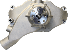 Proform 68243 Engine Water Pump; Mechanical Short Style; High Flow Model; Satin; BB Chevy