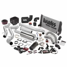 Banks Power 47722-B Big Hoss Bundle; Single Exh; S/S-Black Tip-2002-04 Chevy 6.6L LB7; EC/CC-SB