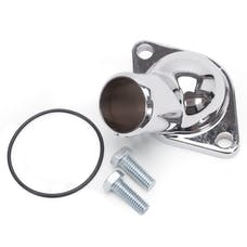 Edelbrock 4809 WATER NECK STEEL CHROME PLATED CHEVY BIG/SMALL BLOCK EACH