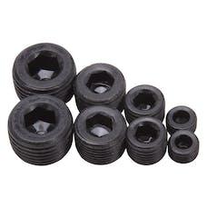 """Edelbrock 8051 Socket Head Pipe Plugs in Black Finish - 1/8"""", 1/4"""", 3/8"""", 1/2"""" NPT (Qty 8)"""