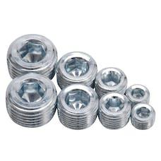 "Edelbrock 8052 Socket Head Pipe Plugs in Anodized Finish - 1/8"", 1/4"", 3/8"", 1/2"" NPT (Qty 8)"