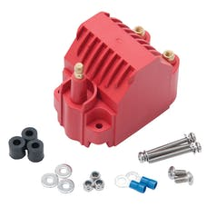 Edelbrock 22742 Max-Fire Ignition Universal High Output Dome Style Ignition Coil in Red Finish