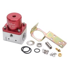 Edelbrock 174051 REGULATOR CARB FUEL PRESSURE -10AN INLET/OUTLET RED/CLEAR BODY ANODIZED FINISH