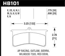Hawk Performance HB101G.800 Disc Brake Pad