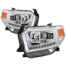 Spyder Auto 9043048 DRL LED Light Bar Projector Headlights