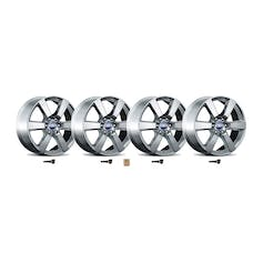 Ford Racing M-1007K-P20XS 2015-16 F-150 SIX SPOKE 20in. X 8.5in. WHEEL KIT-SIL