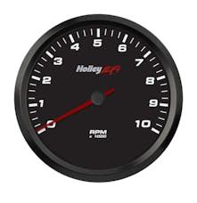 Holley EFI 553-125 4-1/2 TACHOMETER; 0-10K RPM; CAN; BLACK