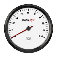 Holley EFI 553-125W 4-1/2 TACHOMETER; 0-10K RPM; CAN; WHITE