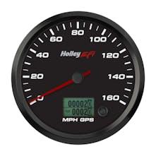 Holley EFI 553-121 4-1/2 SPEEDOMETER; 0-160 MPH; GPS; BLACK
