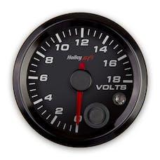 Holley EFI 553-126 2-1/16 VOLTAGE GAUGE; 0-18V; CAN; BLACK
