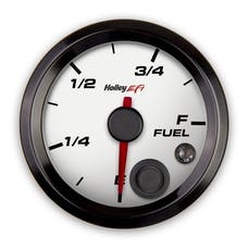 Holley EFI 553-133W 2-1/16 FUEL LEVEL GAUGE; PROGRAMMABLE; WHITE