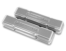 Holley 241-107 GM Licensed Vintage Series Valve Covers, Polished Finish