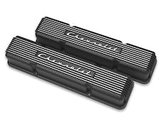 Holley 241-108 GM Licensed Vintage Series Valve Covers, Black Finish
