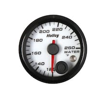Holley 26-602W 2-1/16 Holley Water Temp Gauge-White