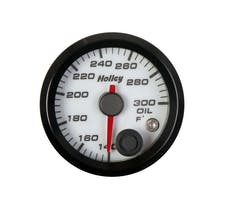 Holley 26-604W 2-1/16 Holley Oil Temp Gauge-White