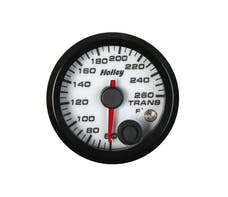 Holley 26-605W 2-1/16 Holley Trans Temp Gauge-White