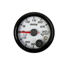 Holley 26-606W 2-1/16 Holley Boost/Vac Gauge-White
