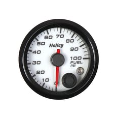 Holley 26-608W 2-1/16 Holley Fuel Pres Gauge-White