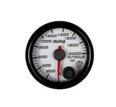 Holley 26-609W 2-1/16 Holley Nitrous Pres Gauge-White