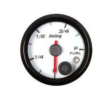 Holley 26-614W 2-1/16 Holley Fuel Level Gauge-White
