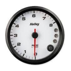 Holley 26-615W 3-3/8 Holley 8K Tach W/Shft Lgt-White
