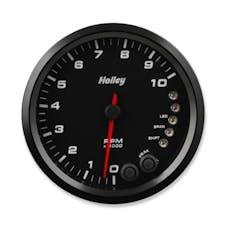 Holley 26-618 4-1/2 Holley 10K Tach W/Shft Lgt-Black