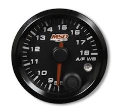 "MSD Performance 4650 2-1/16"" Standalone Wideband Air/Fuel Gauge, Black Face"