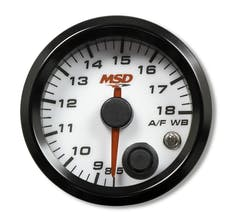 """MSD Performance 4651 2-1/16"""" Standalone Wideband Air/Fuel Gauge, White Face"""